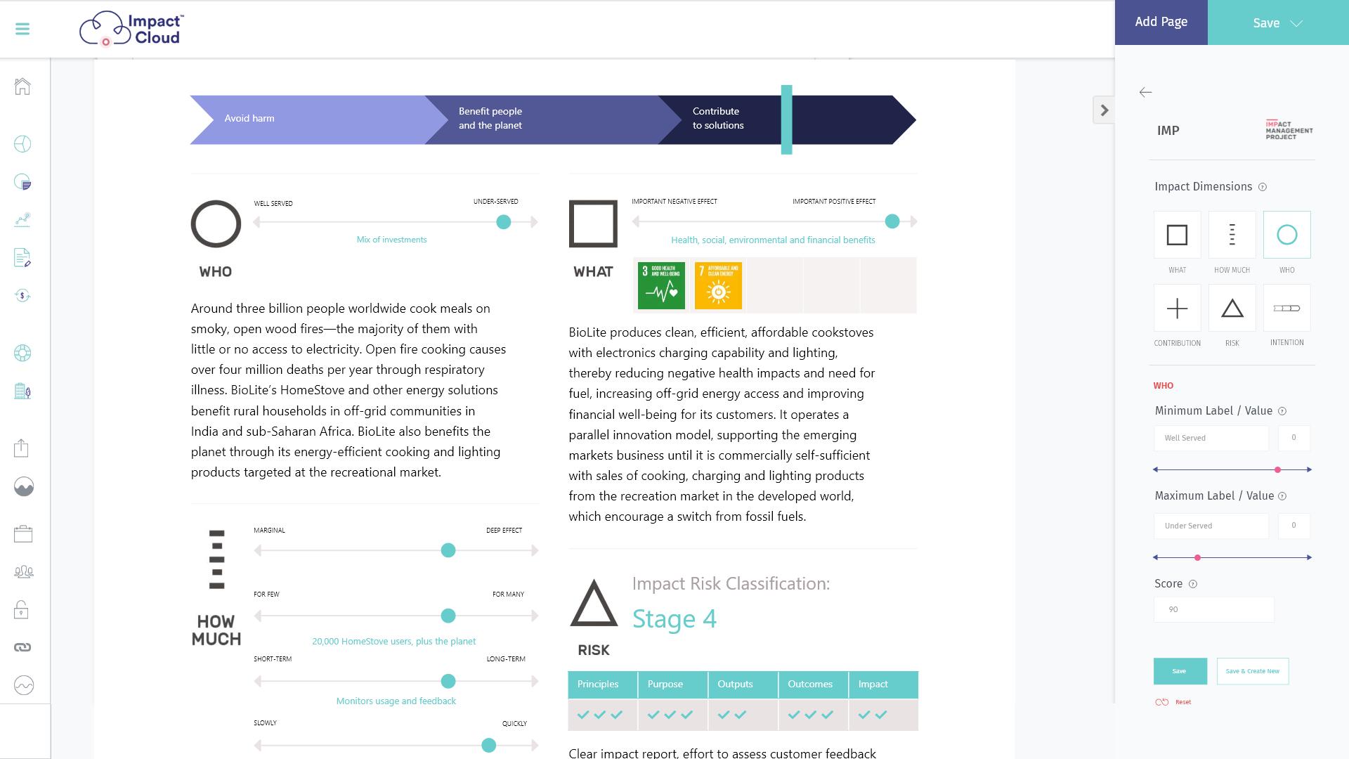 Social Impact Measurement & Management Platform